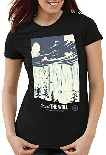 style3 El Muro Camiseta para Mujer T-Shirt Nieve Guardia de la Noche John invernalia Snow, Talla:XL