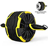 SNODE Ab Roller Wheel for Abdominal Exercise S550 Core&Abdominal Equipment Trainer for Men&Women with Intelligent Workout Data Display, Spring Steel Sheet, Knee Pad for Home Gym Fitness