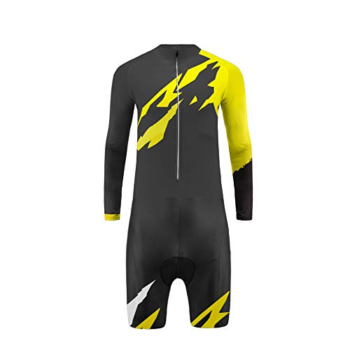 Uglyfrog Cycling Skinsuit Uomo Ciclismo Magliette Manica Lunga +Gambe Corte with Gel Pad Sports Wear Design Unico Migliori Regali per Gentiluomo