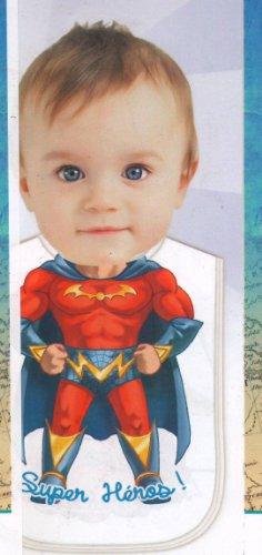 Bavoir Enfant 29x26cm Super Heros
