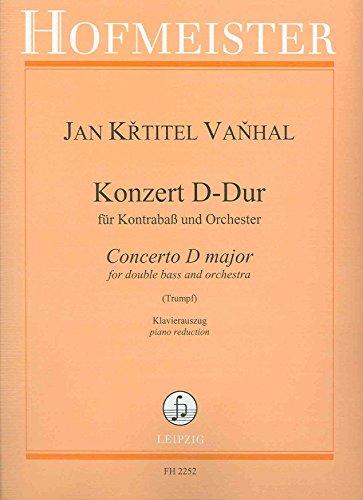 VANHAL J.B. - Concierto en Re Mayor para Contrabajo y Piano