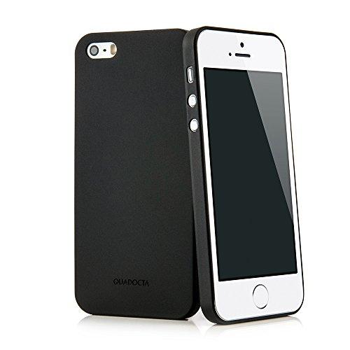"""QUADOCTA Funda Ultrafina Solid Black """"Angusta"""" para el iPhone SE y iPhone 5 5s de Apple Pulgadas. Funda Protectora Extra Fina iPhone SE/5s/5 Original de Apple"""