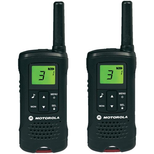 Motorola 59T60PACK Walkie Talkies (TLKR T60, LCD, 8 Canales), Color Negro