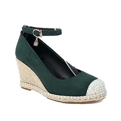 Zapatos de Mujer Tacón de cuña Moda Correa de Tobillo Primavera Verano Boca Baja Uso Diario Estilo Urbano Zapatos Gruesos Superligeros