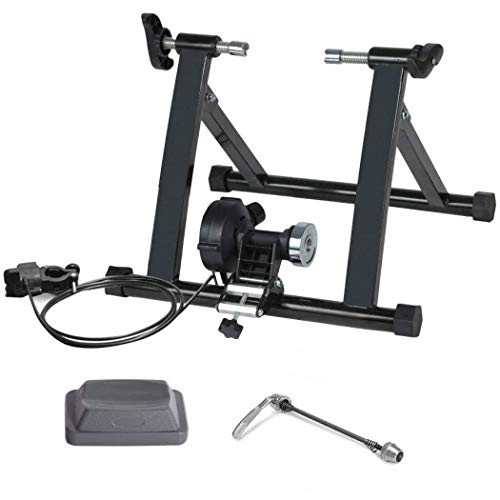YYW Portable Bike Trainer Stand Steel Indoor Exercise Bike Trainer Noise Reduction Various Resistances Stationary Bike Trainer for Road or Mountain Bike 2024 inch Wired