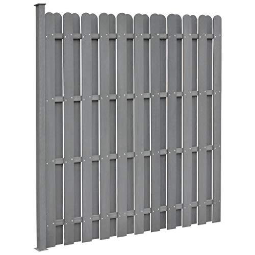 Festnight- Ersatz-Zaunelement Zaun Sichtschutz Sichtschutz Garten Sichtschutzzaun WPC 180 x 180 cm Quadratisch Grau