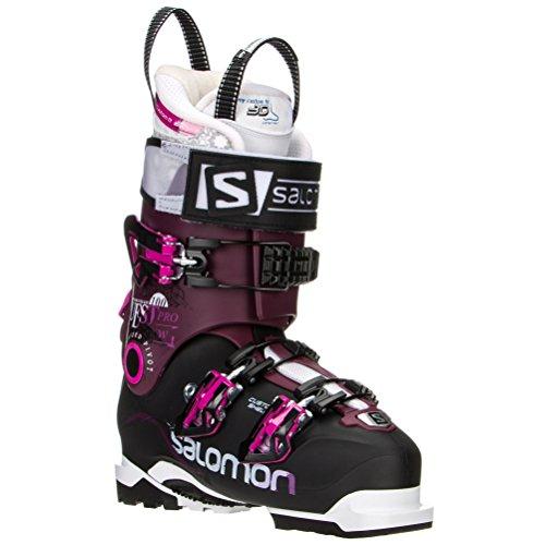 Salomon Quest Pro 100 Ski Boots Black / Burgendy Women's 23.5