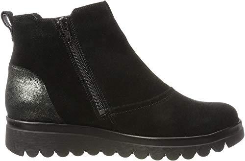 Waldläufer Hodaya, Damen Chelsea Boots, Schwarz (Velour Glitter Schwarz Nero), 39 EU (5.5 UK)
