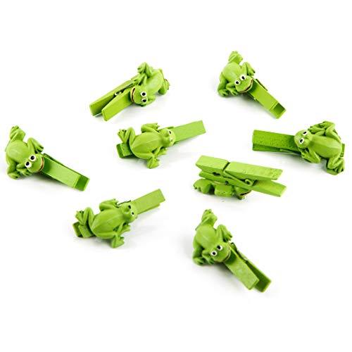 Logbuch-Verlag 8 kleine Frosch Klammern zum Dekorieren u Basteln 4,5 cm Dekoklammer Zierklammer Deko Glück Symbol Froschkönig Clips Kindergeburtstag