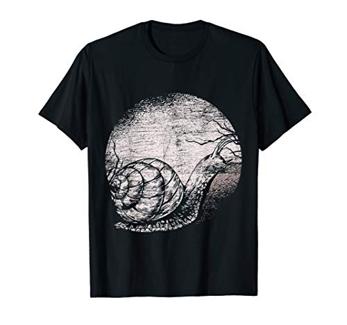 Snail Moon Nature Gift Idea Snail T-Shirt
