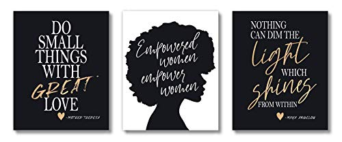 Brooke & Vine African American Black Woman Wall Decor Art Prints (UNFRAMED 8 x
