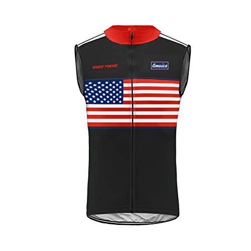 BurningBikewear Uglyfrog Ciclismo Maillots Sin Mangas Traje Ciclista Verano/Primavera Transpirable Cómodo Chalecos Cycling Vest MES2019MJ07