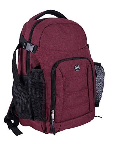 QHP praktischer Rucksack für den Reiter oder als Putzrucksack mit vielen Verstaumöglichkeiten (Bordeaux)