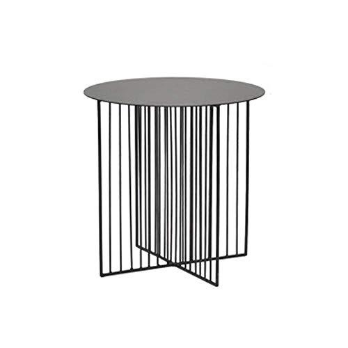 REN Tavolino di Servizio, semplici e mobili in Pratica, Metallo Ferro battuto Geometrica Linea Tavolino, Living Room Divano tavolino Piccolo Camera Mini Round Table *