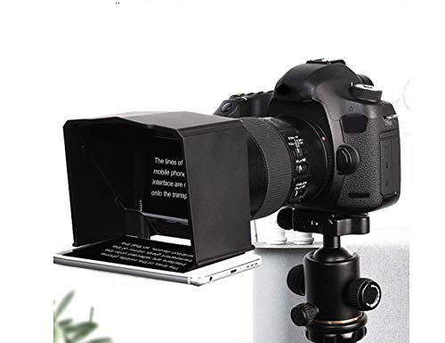 Smart Phone Teleprompter met Lens Adapter Ringen Kit,Draagbare Teleprompter voor Smartphone met Afstandsbediening, Draagbare en Betaalbare Teleprompter