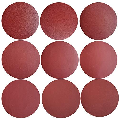 Sackorange 100 PCS 6-Inch NO-Hole PSA Aluminum Oxide Sanding Disc, Self Stick(10 Each of 120 180 240 320 400 600 800 1000 1500 2000)