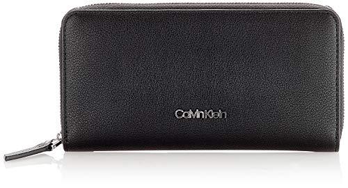 Calvin Klein Damen Ck Must Ziparound Wallet Lg Geldbörse, Schwarz (Black), 1x1x1 cm