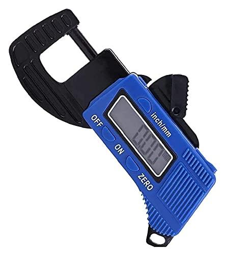 DWhui Herramientas de medición Medidor de Espesor Digital Micrómetro Azul Medida Tool portátil Portátil con Pantalla LCD precisa Suministros industriales convenientes y fáciles de Usar.