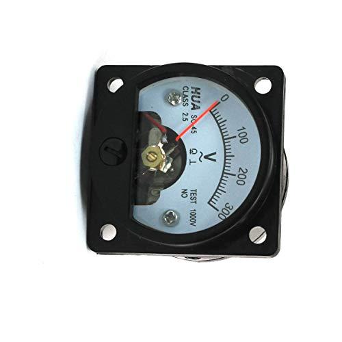Aexit AC 0-300V, rund, Dial Analog Panel Meter Voltmeter Messgerät, Schwarz