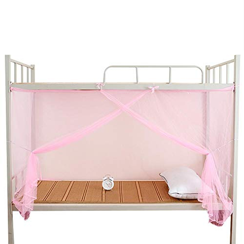 Wifehelper 4 Corner Post Bed Canopy Mosquito Net for Bed, Twin, Full,Queen Size Bed Canopy Curtains Easy Installation for Bed(Twin)