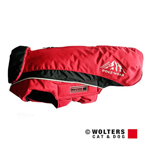 Wolters | Skijacke Dogz Wear wasserdichtem RV rot/schwarz | Rückenlänge 36 cm