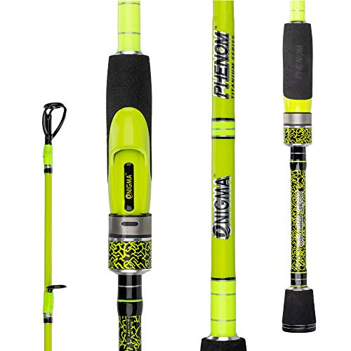 Enigma Fishing Phenom Titanium Gen2 High-Performance Bass Fishing Rods, Japanese Toray High Modulus 30 Ton Graphite Blanks, Alps Guides, Quality Eva Grip, 10 Lengths & Actions - Spinning Rod