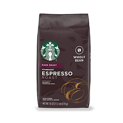 Starbucks Dark Roast Whole Bean Coffee — Espresso Roast — 100% Arabica — 1 bag (18 oz.)