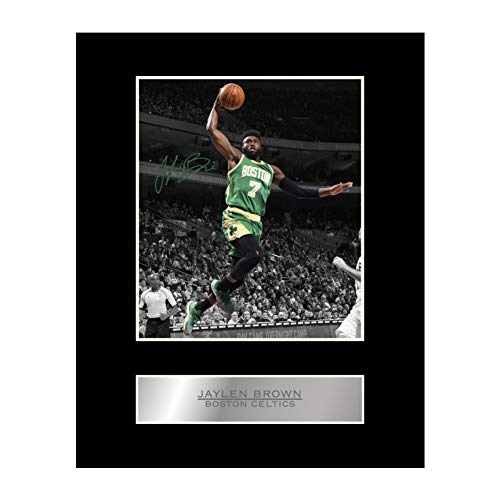 Jaylen Brown Signed Mounted Photo Display Boston Celtics #03 NBA Printed Autograph Gift Picture Print