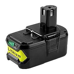 powerful Powering 5000mAh Ryobi 18V Lithium Battery for Ryobi 18V 18L 50ONE + P104 P105…