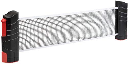 Idena 40461 - Ausziehbares Tischtennisnetz, zur einfachen Montage an Tischplatten, ideal für Unterwegs, im Urlaub oder im Garten