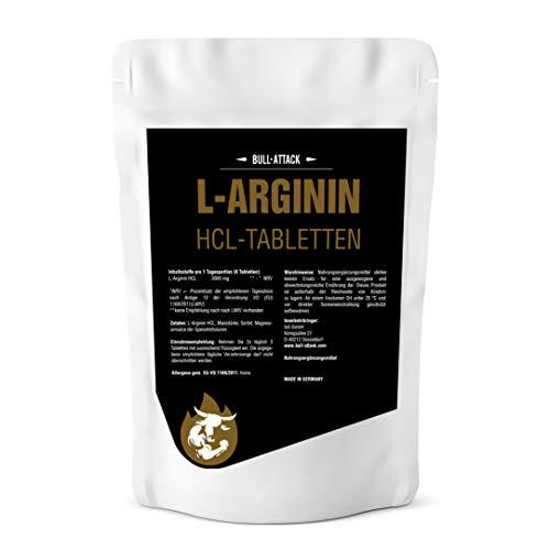 L-ARGININ HCL TABLETTEN - 500 hochdosierte Tabletten - 3000 mg Portion Semi-essentielle Aminosäure Zum Muskelaufbau Pre-Workout & zur Verbesserung der Durchblutung
