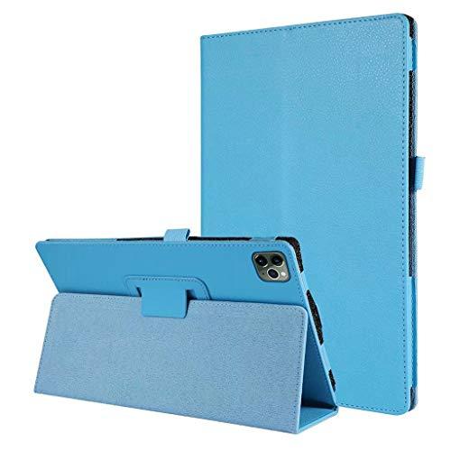 Hülle Kompatibel mit iPad Pro 12,9 Zoll 2020 New, Notebook-Stil PU Leder Schutzhülle, TPU Kunststoff mit Ständer und Auto Schlaf/Aufwach Schutzhülle Ersatz für iPad Pro 12,9 Zoll (Blau)