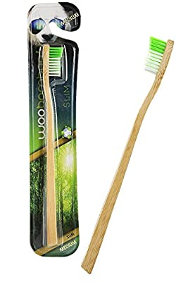 WooBamboo! Eco-Toothbrush, Slim Handle – Dentist Approved, Mother Nature Recommended