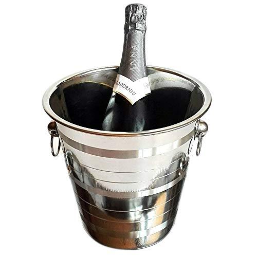 Space Home - Seau  champagne avec Poignes - Acier...