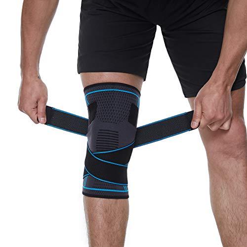 YXTC 膝サポーター 医療用 スポーツ バレーボール 登山 ランニング サッカー バスケ 関節 靭帯 損傷回復 半月板損傷 筋肉保護 左右兼用 1枚入り S-L(S)