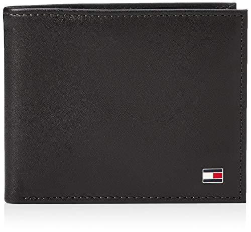 Tommy Hilfiger Eton Mini CC Wallet, Cartera para Hombre, Black, única