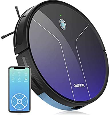 GOOVI by ONSON, 2100Pa Robot Vacuum Mapping with Wi-Fi, Robotic Vacuum Cleaner Gyro Navigation System, Voice Control, Boundary Strips Included, for Pet Hair, Carpets, Hard Floors