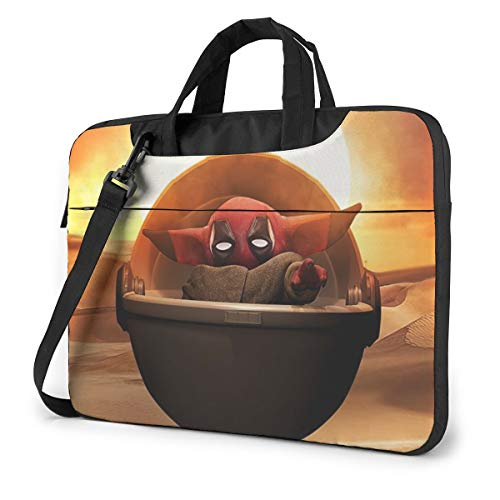 Deadpool Baby Yoda Shockproof Laptop Shoulder Messenger Bag Case Sleeve Oxford Cloth Briefcase for 13 Inch 14 Inch 15.6 Inch
