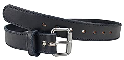 The Ultimate Steel Core Gun Belt | Concealed Carry CCW Leather Gun Belt With Steel Insert | Made in the USA | The Toughest 1 1/2 inch Premium Heavy Duty Leather Gun Belt | Black 36