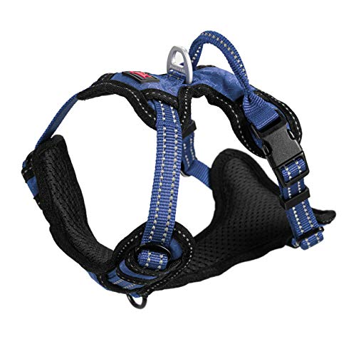 Metro - No Pull Dog Harness | Front And Back Leash Attachment Points | 3M Reflective Stitching Increases Safety At Night | 4 Point Adjustable Fit Harness For Dogs | Padded Dog Harness For Comfort
