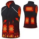 Vinmori Electric Heated Vest Washable Size Adjustable Fleece Soft...