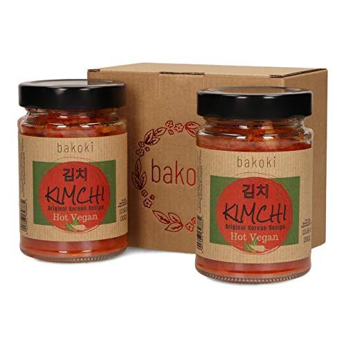 Bakoki® Premium KIMCHI Hot VEGAN, Receta Coreana Original, sabor fuerte (2 x 300g)