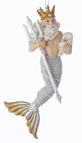 Neptune Sea King Merman Christmas Ornament