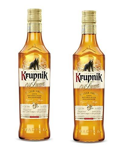 2 Flaschen Krupnik Honig a 500 ml 38% vol. Honiglikör