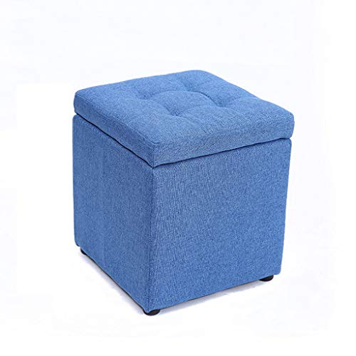 LJZslhei Hocker Kreative Multifunktionale Lagerung Hocker Mode Wohnzimmer Sofa Hocker (Color : Blue)