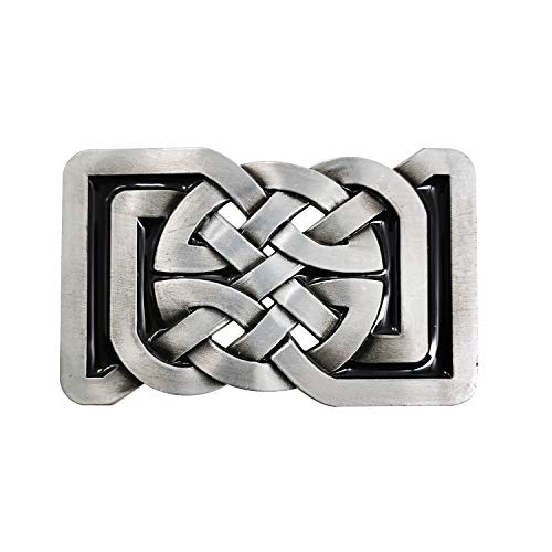 LAXPICOL Vintage Western Celtic Belt Buckle for Men Keltic Knot Western Cowboy Native American Belt Buckles