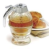 WeiX Tarros de Miel, dispensador de Miel, dispensador de Miel plástico Transparente de Almacenamiento de Miel de Miel, con compresión de Soporte, sin Goteo de Flujo moderado 200 ml