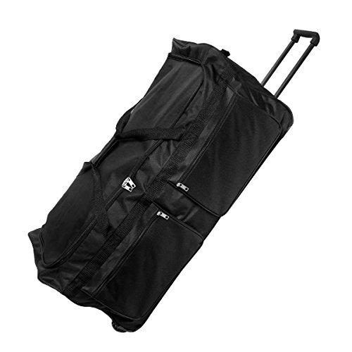 XXL Reisetasche mit Trolleyfunktion Sporttasche Tasche 3 Rollen Teleskopgriff 160 Liter schwarz