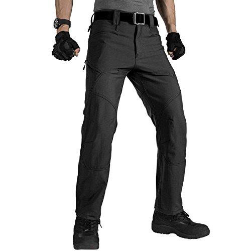 FREE SOLDIER Cargo Pants Men Water Resistant Tactical Pants(Black 36W/30.5L)
