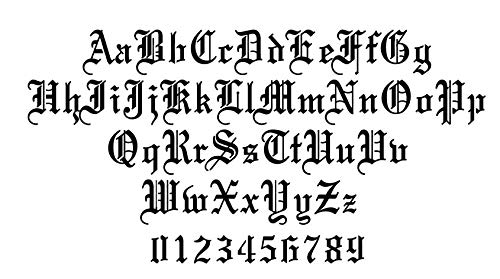 Old English Letters Stencil (2 inch)